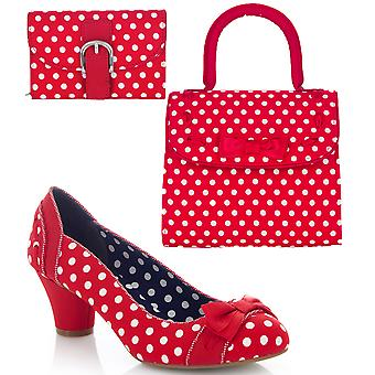Ruby Shoo Women's Hayley Court Shoe Pumps and Matching Santiago Bag & Garda Purse