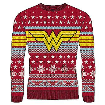 Unisex DC Comics Wonder Woman Knitted Christmas Jumper
