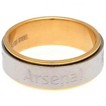 Arsenal Bi Colour Spinner Ring Large