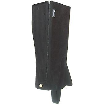 Requisite Unisex Childrens Suede Half Chaps Zip Press Stud Fastening