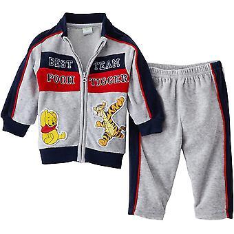 Kluci Disney Winnie Pooh & Tigger Baby Samet pletený oblek