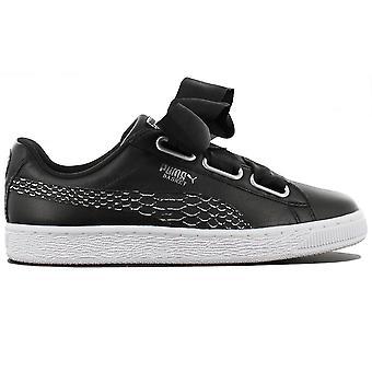 Puma Basket Heart Oceanaire 366443-01 Damen Schuhe Schwarz Sneaker Sportschuhe