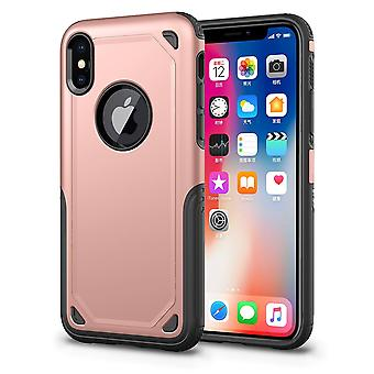 Pour iPhone XS Max Cover,Shockproof Rugged Armour Shield Mobile Case,Rose Gold