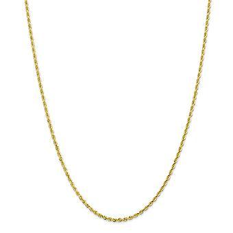 10k 2.25mm Brilho Cortado Corda Quádrupla Corda Cadeia De Joias de Pulseira de Tornozelo para Mulheres - Comprimento: 7 a 10