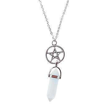 Attitude Clothing Opal Pentagram Pendant