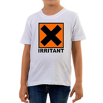 Reality glitch irritant symbol kids t-shirt