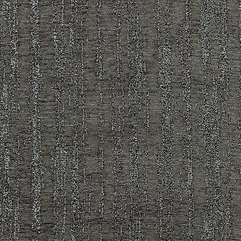 Mcalister Textilien strukturiertchen Chenille Holzkohle grau Stoff