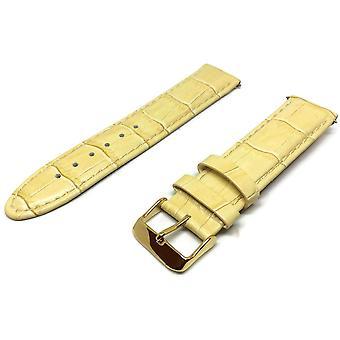 التماسيح الحبوب ووتش حزام البيج العجل الجلود رئيس الوزراء نوعية حجم مبطن 12mm إلى 20mm