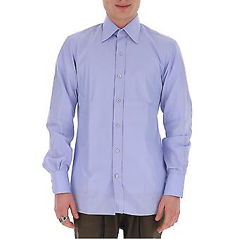Tom Ford 7ft00994c1jegbrblusld Men's Light Blue Cotton Shirt