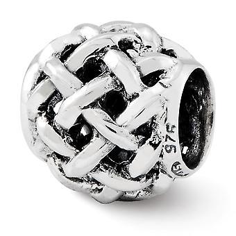 925 Sterling Silver finish Reflektioner Bali Pärla Charm Hängande Halsband Smycken Gåvor för kvinnor