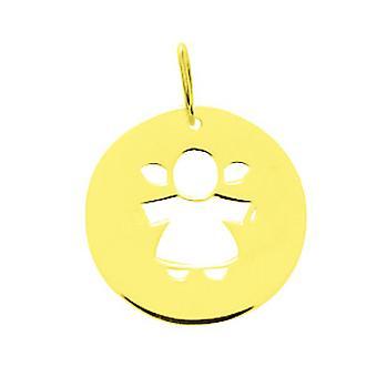 Placa padrão ouro redondo 750/1000 (18K) amarela