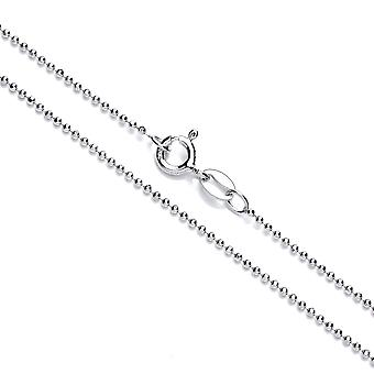 David Deyong Sterling Silver Rhodium Plated Diamond Cut Ball Chain