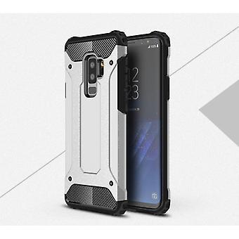 Stuff Certified® Samsung Galaxy S9 Plus - Armor Case Cover Cas TPU Case Silver