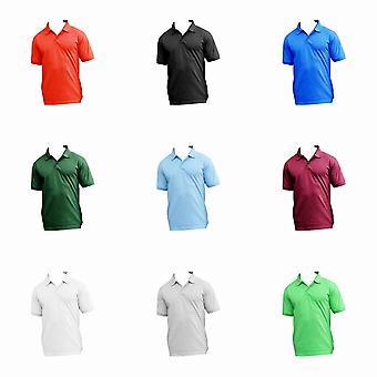 UCC 50/50 Mens Heavyweight Plain Pique Short Sleeve Polo Shirt