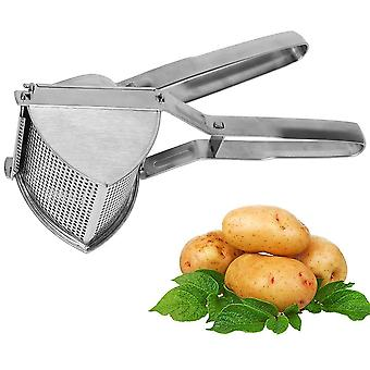 Kitchen Heavy-duty Manual Masher Tool -  Stainless Steel Triangular Potato Ricer - Strong And Agile !
