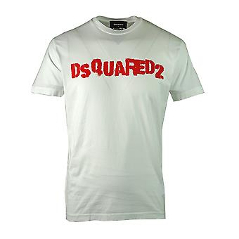 Dsquared2 Spray Paint Logo White T-Shirt