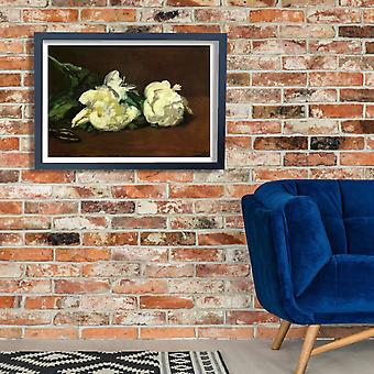 Edouard Manet - White Flowers Poster Print Giclee