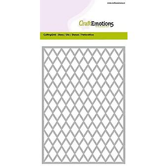 CraftEmotions Die - Cutting Grid - diamant kaart 10,5x14,8cm