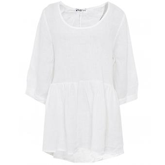 Blueberry Italia Relaxed Linen Top