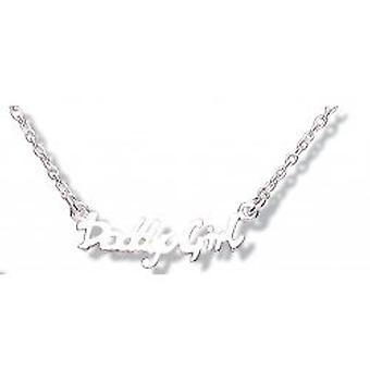 "Jo For Girls Sterling Silver ""Daddy's Girl"" Word Necklace 14""+2"" Extender"