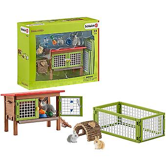 schleich rabbit hutch playset for ages 3 and above