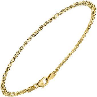Twin tank bracelet 585 yellow gold 19 cm Gold Bracelet Gold Bracelet