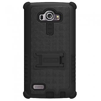 LG G4 BEYOND CELL TRI SHIELD CASE - BLACK/BLACK