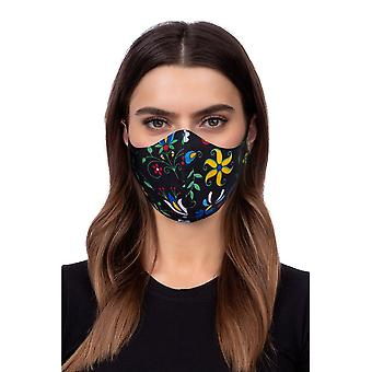 Vaskbar profilert ansiktsmaske - folklore modell 2 - svart