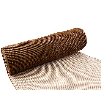 Tan 25cm x 9.1m Deco Mesh Roll for Wreath Making, Floristry & Crafts