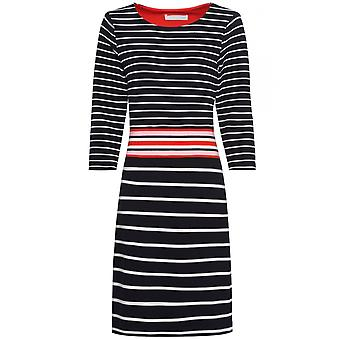 Bianca Navy & White Striped Dress