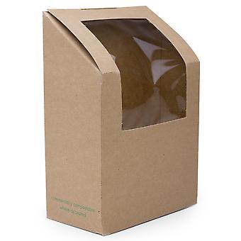 Vegware Kraft Tortilla & Wrap Takeaway Box