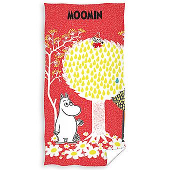 Moomin Red Beach Towel