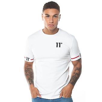 Onze degrés 11 Degrés 11d-151-002 T-shirt à manches mi-manches menottés - Blanc