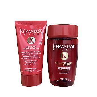 Kerastase Bain Apres Soleil Shampoo 2.71 OZ and Rinse 1.69 OZ Travel Set