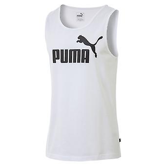 Puma Essentials miesten Hihaton kesän säiliö alkuun singlet liivi valkoinen