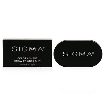 Sigma Beauty Color + Shape Brow Powder Duo - # Medium - 3g/0.11oz