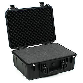Marché de valise Caisse extérieure Grande avec insert en mousse, noir