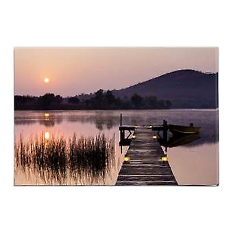 Jandei Led Landscape Box Met Switch (Nightfall, 60*40*1.8) Landscape NightFall Jetty With Lighting 7 LED's. 2 AA-batterijen