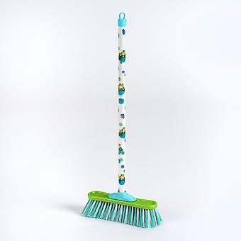 theo klein classic broom with frog pattern blue/green kids 3 years and above