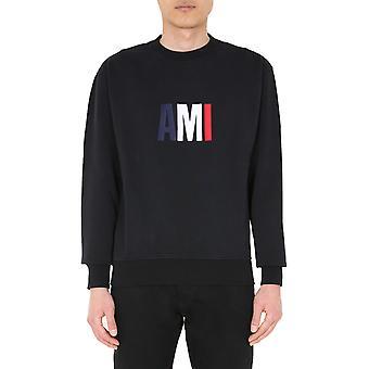 Ami P20hj003730001 Männer's schwarze Baumwolle Sweatshirt