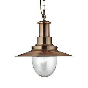 1 luz do pendente do teto da abóbada cobre, vidro semeado