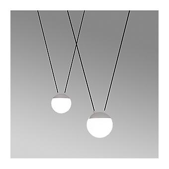 White Pendant Light Mine 2 Bulbs