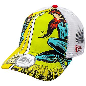 Black Widow Comic Scene Sublimated New Era Chapeau camionneur réglable