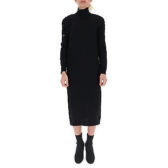 Semi-couture Y9aa03y690 Women's Black Wool Dress