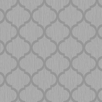 Debona Crystal Trellis Wallpaper Glitter Geometric Black Blue White Ivory Silver