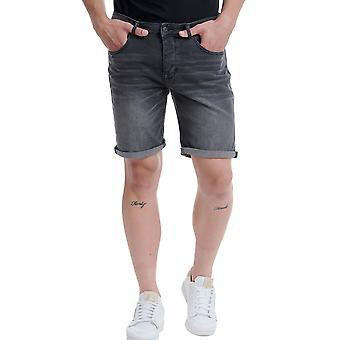 Funky Buddha Men's Denim Shorts In Used Look