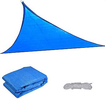 16.5' Triangle Sun Shade Sail Patio Deck Beach Garden Yard Outdoor Canopy Cover Uv Blocking (Blue)