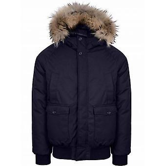 Pyrenex Navy Mistral Fur Jacket