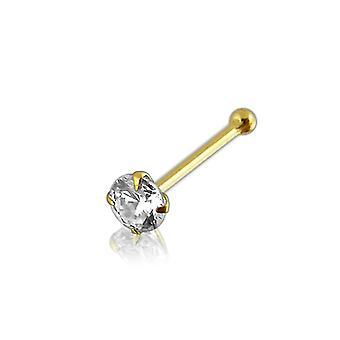 9K Gold Genuine Diamond ball End Nose Pin