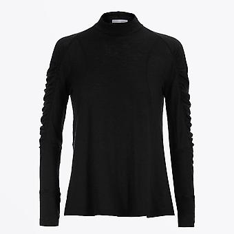 HIGH  - Imitate - Knitted Turtleneck With Ruched Sleeves - Black